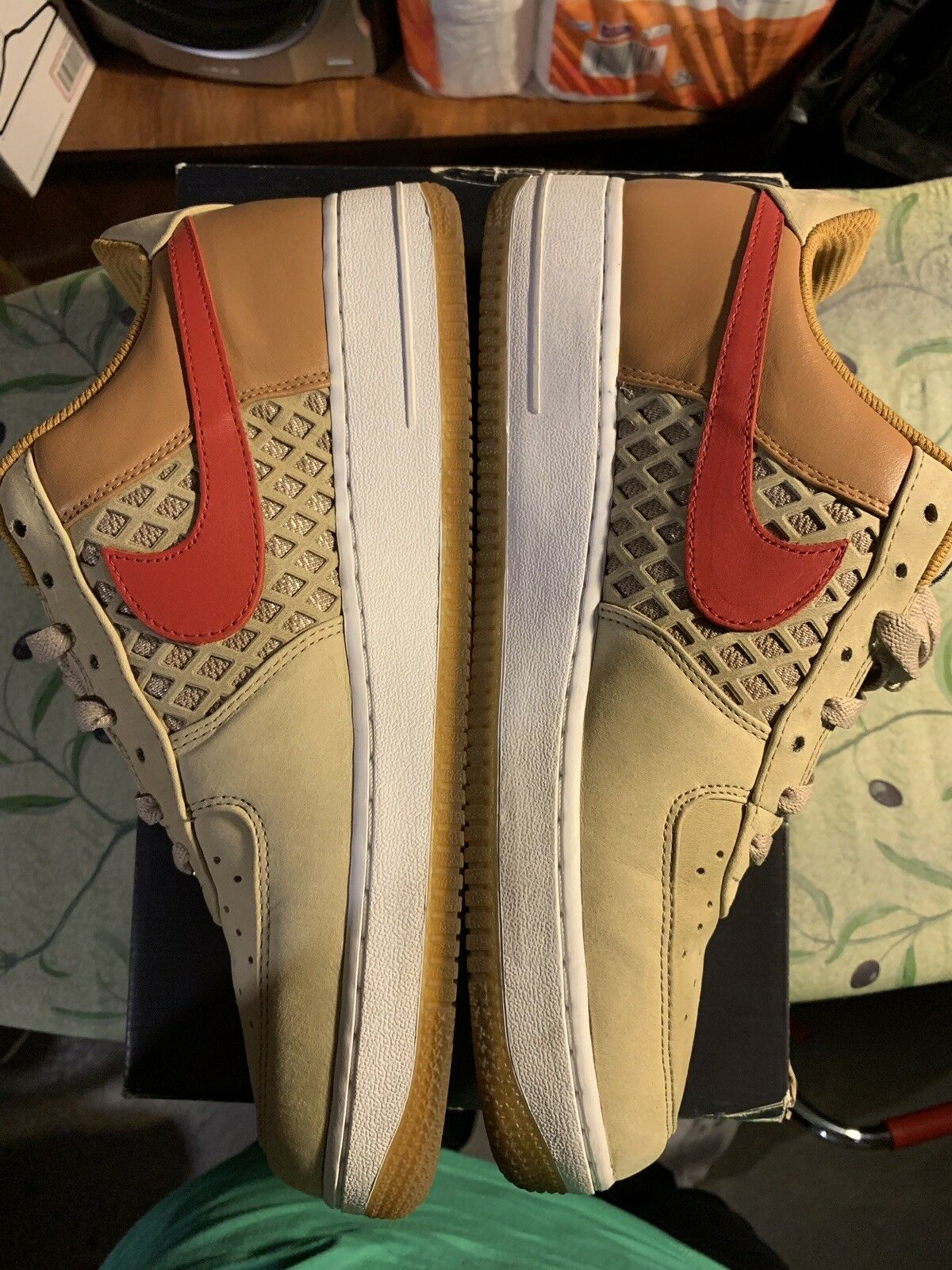 Mens Nike Air Force 1 Premium 2008 Beijing Tweed shoes size 10.5 US 318775-241