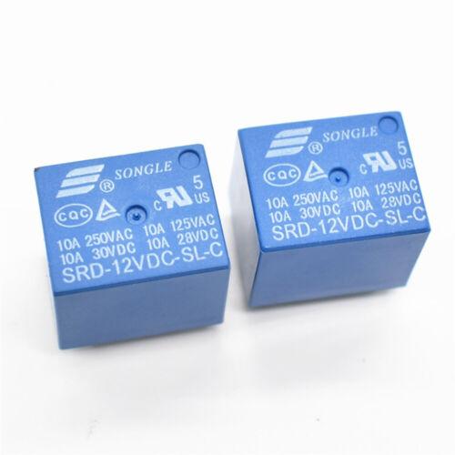 PCB Neu Leistungsrelais für Printmontage 5Pin Miniatur Power Relais 5V//12V//24V