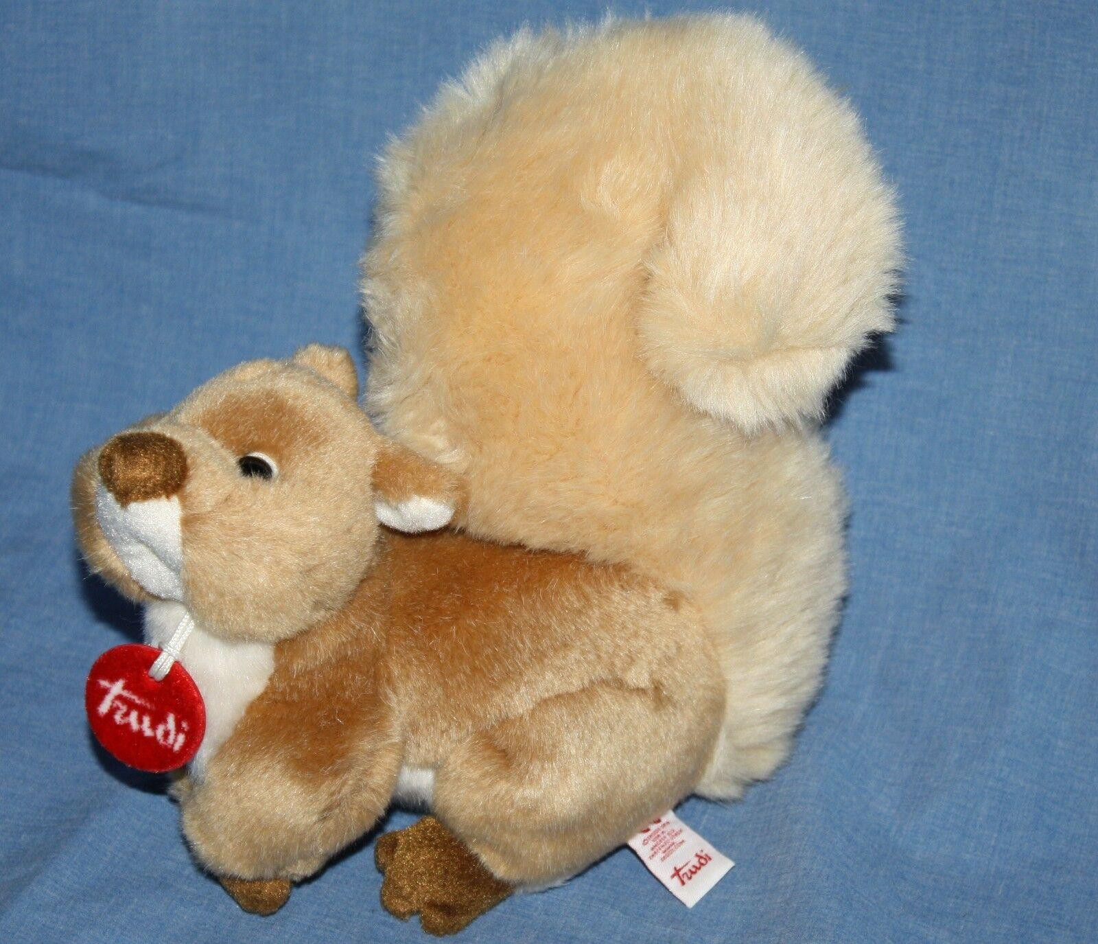Trudi Spa  Realistic SQUIRREL 8  Stuffed Wild Animal Plush Red Tag Soft Toy