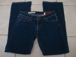 Womens-X2-EXPRESS-slim-low-rise-flare-stretch-jeans-0-short