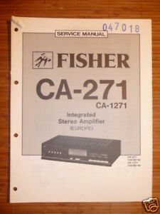 MANUAL-DE-SERVICIO-FISHER-ca-271-1271-AMPLIFICADOR-original