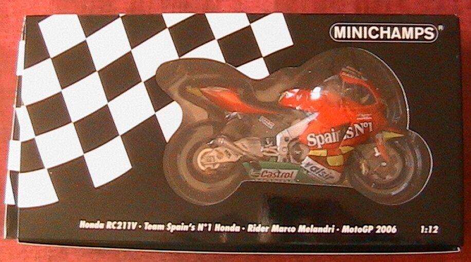 HONDA RC211V  1 TEAM SPAIN'S MOTOGP 2006 RIDER MARCO MELANDRI MINICHAMPS 1 12