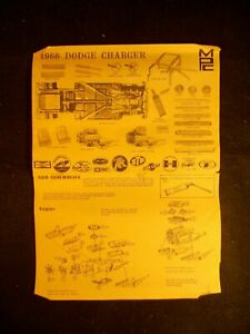MPC 1966 Dodge Charger Model Instruction Sheet