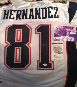 La foto se está cargando Aaron-Hernandez-firmado-autografiada-Jersey -JAMES-SPENCE-AUTHENTICATION- 6109ef69a