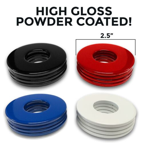 """8 PACK 2-1//2/"""" Powder Coated Replacement Washer Toss Pitching Game PICK 2 COLORS!"""
