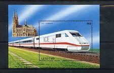Lesotho 1996 MNH Trains 1v S/S II Railways Züge Trenes Treni Chemin de Fer ICE