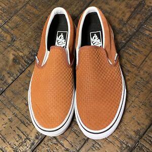 Vans-CLASSIC-SLIP-ON-Embossed-Suede-Sequoia-Men-039-s-SZ-10-5-VN0A38F7U7G