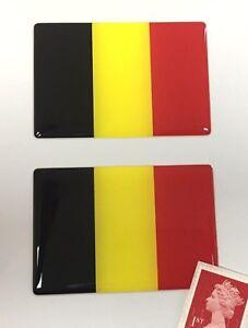 2-x-Belgium-Flag-Stickers-Super-Shiny-Domed-Finish-64mm