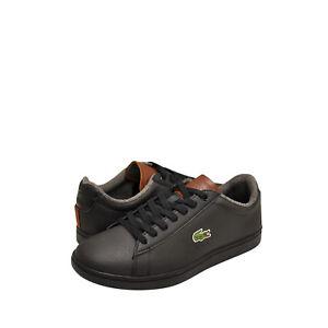 Uomo-Scarpe-LACOSTE-CARNABY-EVO-318-2-SPM-Sneaker-36SPM0010094-Nero-Marrone-NUOVO