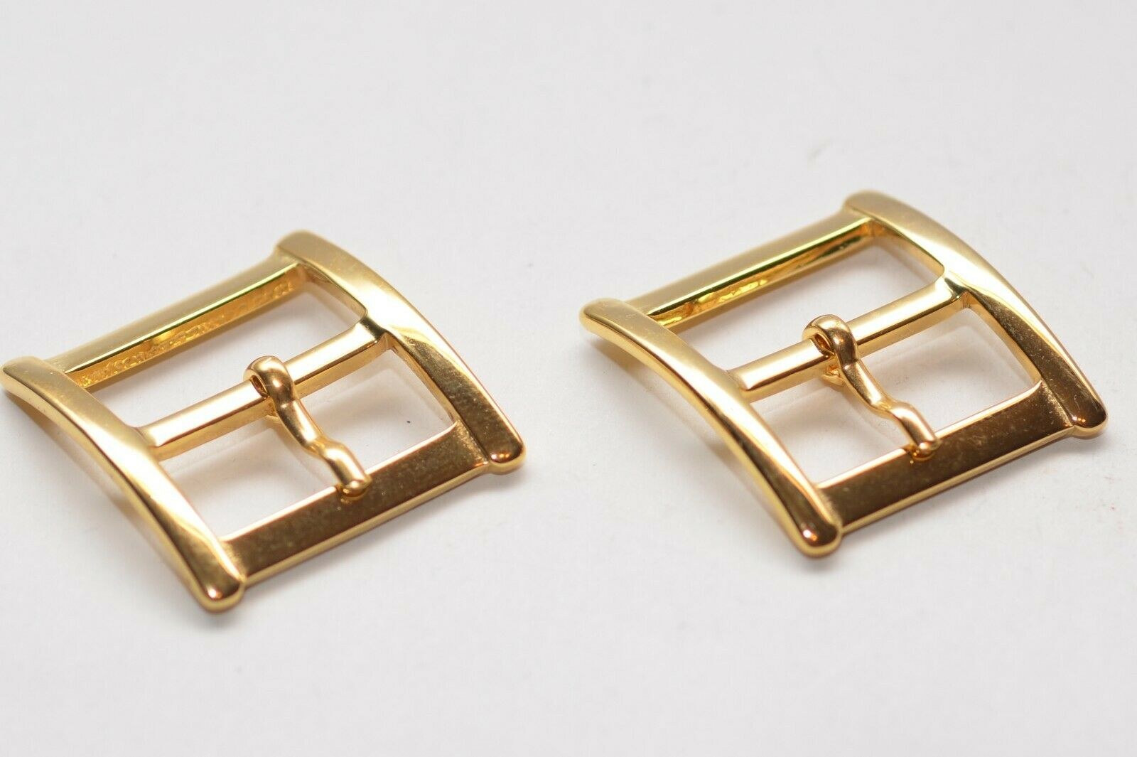 2x Solid Belt Buckle, Approx. 25 MM Width, Gold, 80er Years, NOS