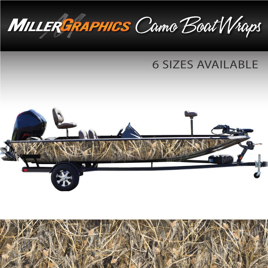 Camo Boat Wrap Kit  Tall Grass  3M Cast Vinyl - 6 Sizes Available