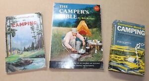Vtg 1961 Lot of 3 CAMPING Outdoor Survival Bushcraft Wilderness Compass Books