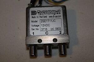 Ducommun RF Relay SMA DC  12 V DC 2SE1T11JB latch relay