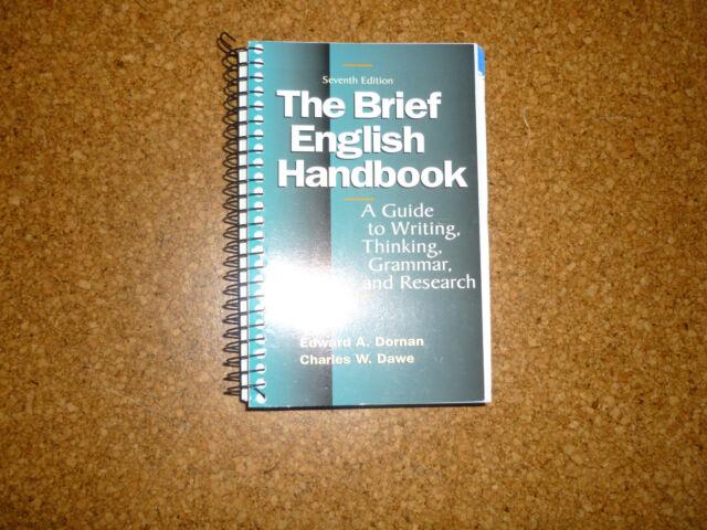 The Brief English Handbook: A Guide to Writing, Thinking, ... | Buch | gebraucht