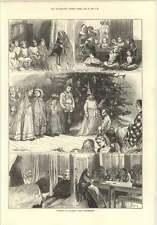 1874 Navidad en Nazaret Casa Hammersmith Viejo Hombre enfermería área