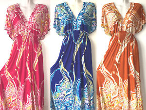 PLUS-SIZE-New-Women-Long-Maxi-summer-beach-hawaiian-Boho-evening-party-sundress