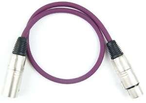 2 Mikrofonkabel 0,5 m Adam Hall LILA PURPLE Patchkabel XLR male female DMX Kabel
