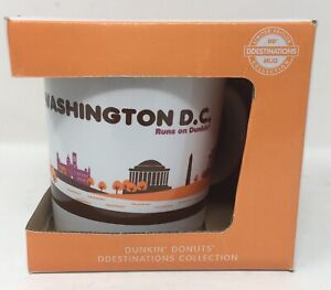 Dunkin Donuts Destinations Mug Washington D.C. Limited Edition 2013 14 Oz NIB