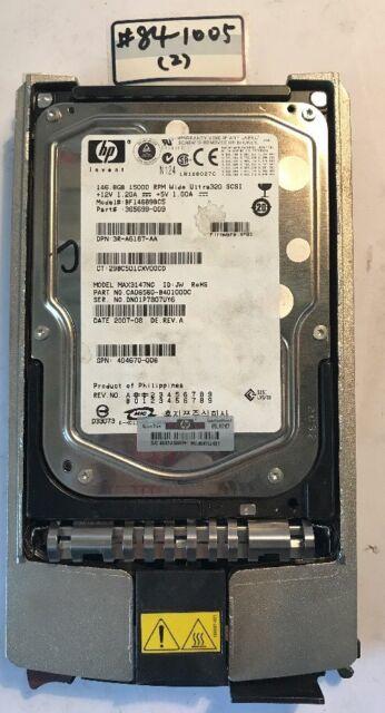 - HP  365699-009  BF14689BC5  MAX3147NC 146.8GB SCSI 3.5 U320 Hard Drive W/CADDY