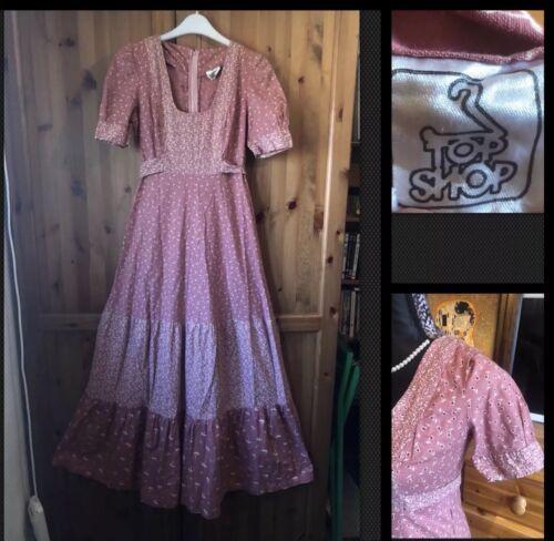 True Hippy Festival 1970's Vintage Dress 10 Topshop Folk Uk Maxi Boho Prairie FTAwxA
