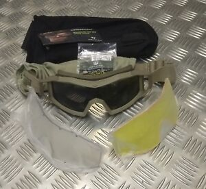 Genuine-British-Army-Revision-Wolf-Spider-Ballistic-Goggles-Coyote-Delux-Kit