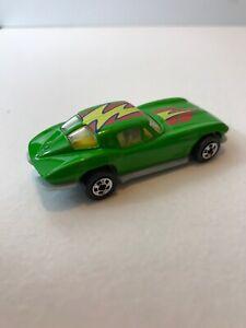 1979 HOT WHEELS Diecast Green '63 Corvette Split Window Stingray-Malaysia *NICE*