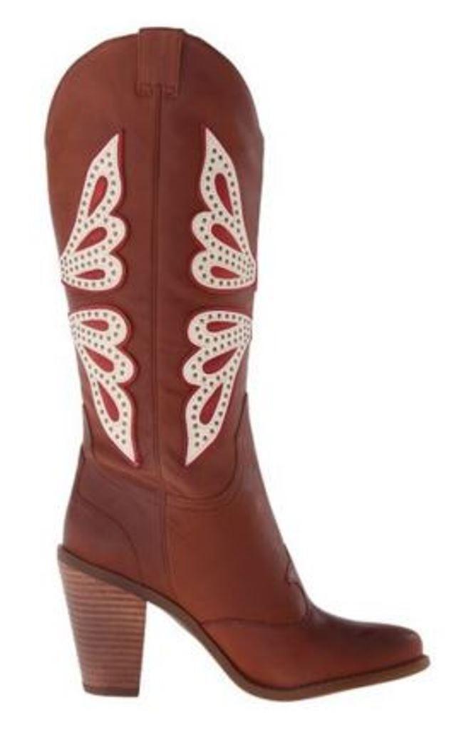 Para Mujer Zapatos Jessica Simpson caralee caralee Simpson knee-high Western Bota Cuero Nuevo equipaje 0bcdcc
