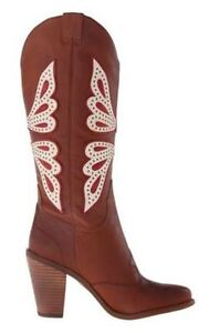 Women-039-s-Shoes-Jessica-Simpson-CARALEE-Knee-High-Western-Boot-Leather-New-LUGGAGE