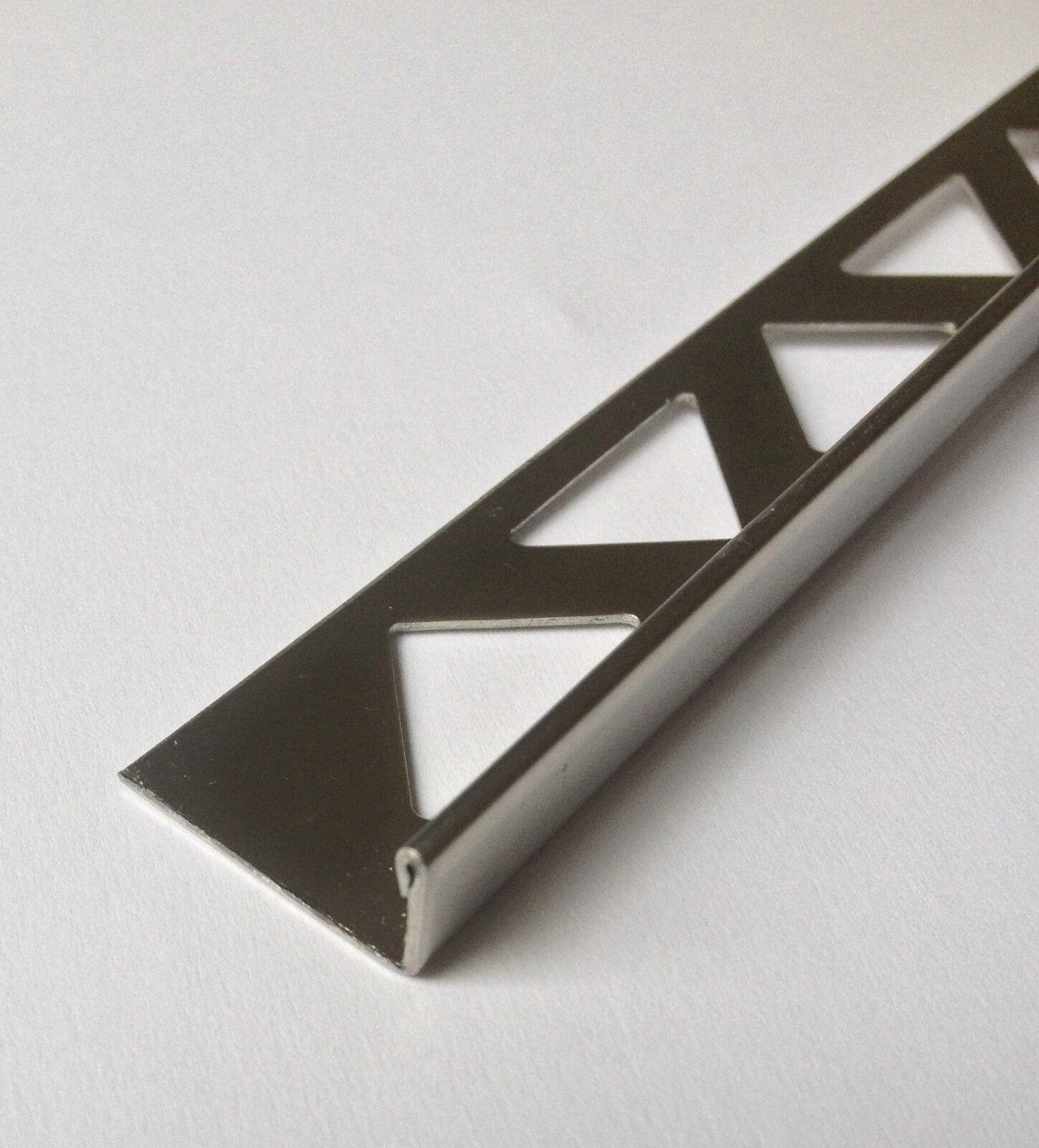 4,19€//m H10mm//L2,50m Winkelabschlussprofil Edelstahl glänzend Fliesenschiene