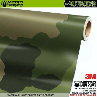 JUMBO ARMY GREEN Camouflage Vinyl Vehicle Car Wrap Camo Film Sheet Roll Adhesive