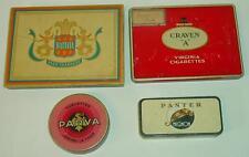 Lot 4 anciennes boites en tôle - cigarettes / Set of 4 French sheet metal boxes