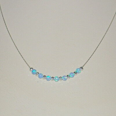 Laser Cut and Blue OPAL Bead ANKLETS Lot 3 pieces Sterling Silver 925 Chain