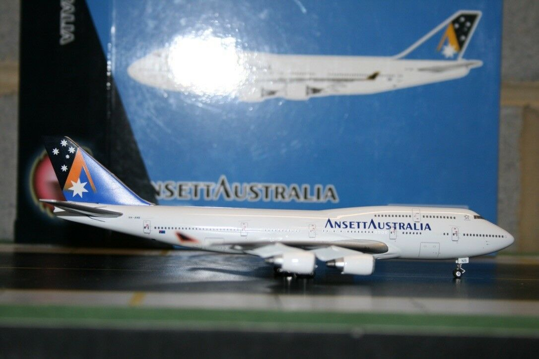Phoenix 1 400 Ansett Boeing 747-400 VH-ANB (PH4AAA379) Die-Cast Model Plane