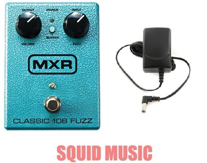 MXR Classic 108 Fuzz M-173 Guitar Effects Pedal M173 ( FREE POWER SUPPLY )