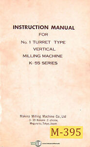 makino k 55 series vertical milling machine instructions and parts rh ebay com G Codes for CNC Machining G Codes for CNC Machining