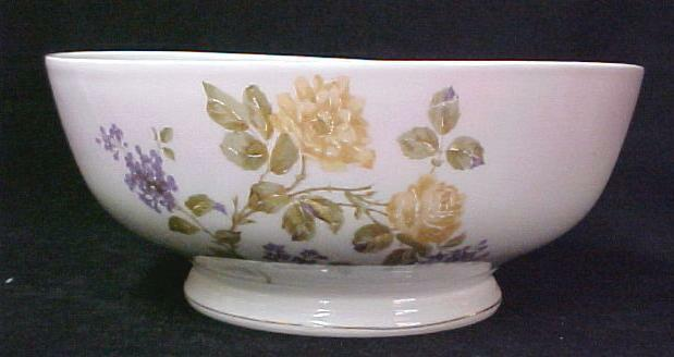 Vintage English Mixing Bowl Hand Painted Floral Marked 9407-2 England