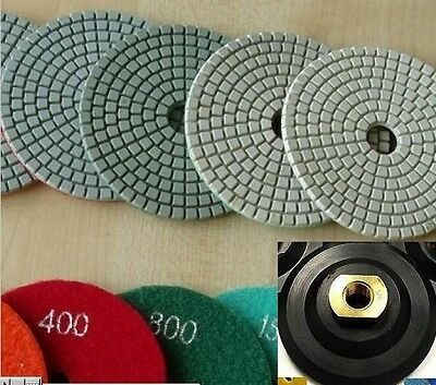 "5/"" Diamond Polishing Pad 15 Piece DAMO Buff Granite Concrete Glass Terrazzo"