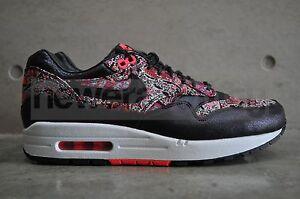 new styles c11b1 8bde1 Image is loading Womens-Nike-Air-Max-1-Liberty-QS-Black-