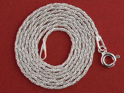 SILBER 925 Kette 42cm 50cm 55 cm Halsketten LOS 1mm