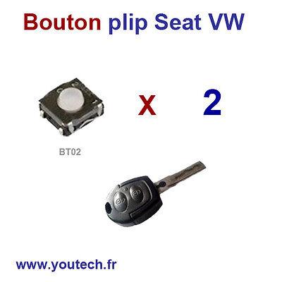 CLE PLIP Seat Toledo Ibiza Leon Lupo 3 Boutons Coque N/°2 @Pro-Plip