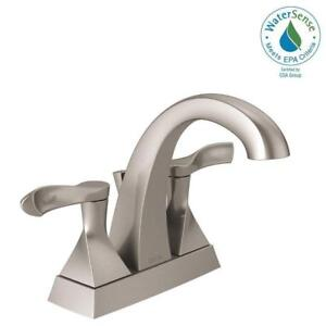 Delta Everly 4 In Centerset 2 Handle Bathroom Faucet Spotshield Br Nickle