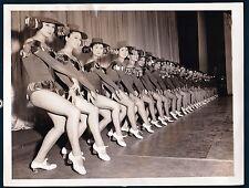 vintage photo dance burlesque girls chorus line Kokusai theater Tokyo Japan 1958