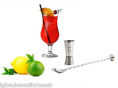 Set Fiesta Hurricane Pina Colada Cocktail Glass 6 glasses + spoon + cup Measure