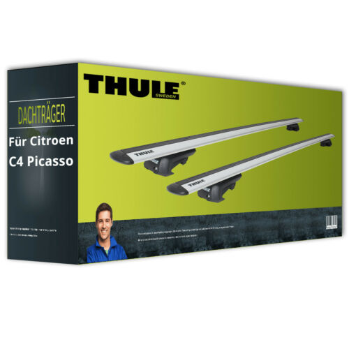 Thule WingBar EVO EBA für Citroen C4 Picasso I Typ DU inkl Dachträger Alu