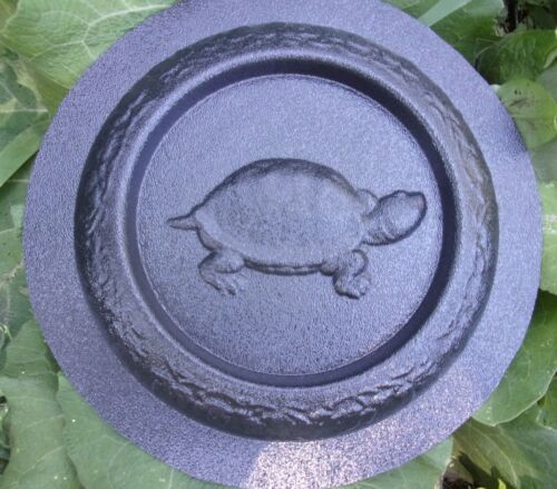 Turtle mini birdbath mold bird feeder plastic mould