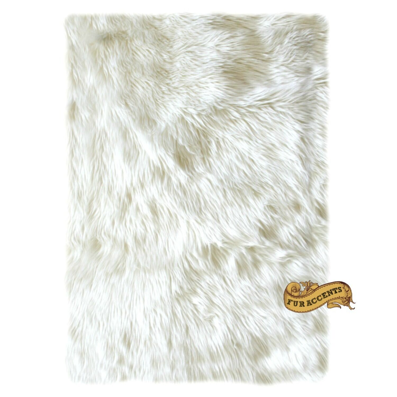 Fur Accents Grande De Venta blancooo Apagado cormorán moñudo Alfombra Alfombra Rectángulo todos los tamaños