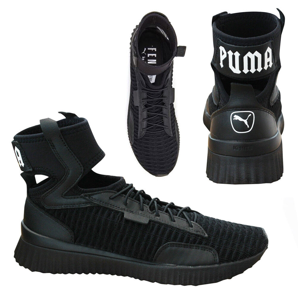 new product f585a 94eb6 Details about Puma x Fenty Trainer Mid by Rihanna Womens Trainers Black  190938 01 M18