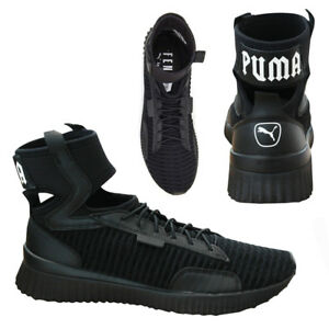 5bb5d60013c8 Puma x Fenty Trainer Mid by Rihanna Womens Trainers Black 190938 01 ...