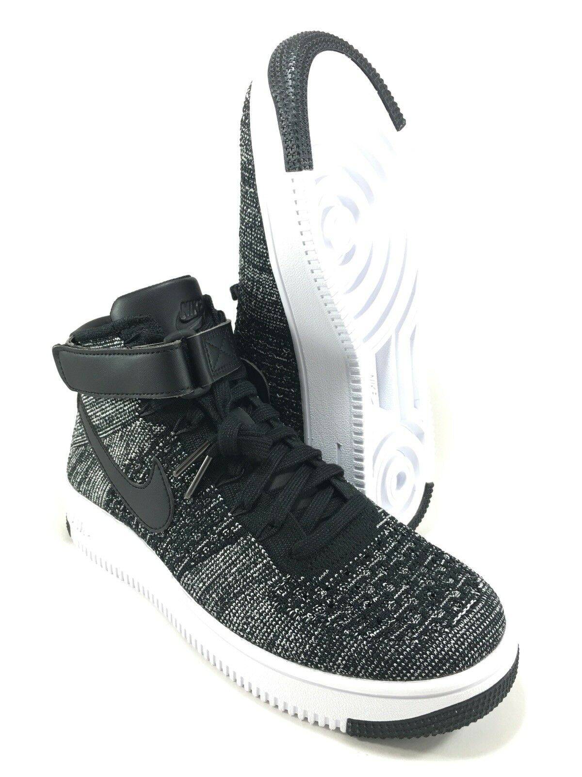 Nike Air Force 1 Ultra Flyknit Mens 9 OREO Black White shoes 817420-004 NEW