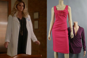 SCREAM-QUEENS-HOFFEL-KIRSTIE-ALLEY-PRODUCTION-WORN-DRESS-SHIRT-amp-JEWELRY-SET